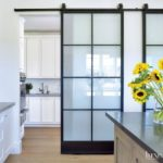 Glass Barn Door from Luxe Interiors + Design Magazine